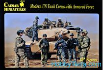 Figurines militaires : Equipage de char US Army moderne - 1/72 - Caesar 00103