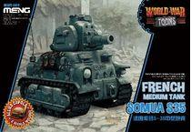 Maquette de tank : Char français Somua S-35 - Série World War Toon - 1:35 - MENG WWT009