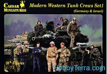 Figurines militaires : Equipage de char OTAN moderne - 1/72 - Caesar 00102
