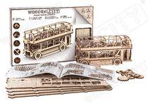 Puzzle 3D / Maquette bois - Bus londonien - Wooden City WR303