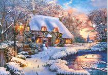 Puzzle Chalet en hiver - 500 pièces - Castorland 53278