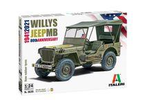 Maquette voiture : Willys Jeep MB - 80e Anniversaire 1941-2021 - 1/24 - Italeri 3635 03635