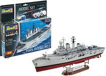 Boîte maquette militaire : Model Set HMS Invincible (Falkland War) - 1:700 - Revell 65172