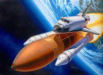 Maquettes : Coffret cadeau navette spatiale & booster rockets 40e anniversaire - 1:72 - Revell 05674 5674