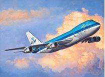 Maquette avion civil : Model set Boeing 747-200 Jumbo Jet - 1/450 - Revell 03999