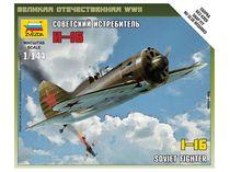 Maquette d'avion militaire : Chasseur Soviétique Polikarpov I-16 - 1/144 - Zvezda 06254