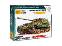 Maquette militaire : Chasseur de chars Ferdinand - 1/100 - Zvezda 6195