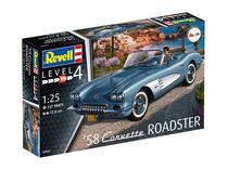 Maquette de voiture : 58 Corvette Roadster - Revell 07037