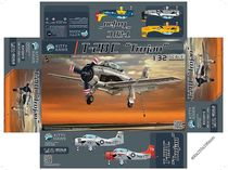 Maquette d'avion militaire : T-28c Trojan - Kitty Hawk Model 32015