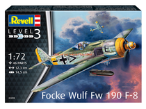 Maquette Model set avion :  Focke Wulf Fw190 F-8 - 1:72 - Revell 63898