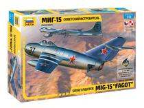 Maquette d'avion militaire : MiG‐15 « Fagot » - 1/72 - Zvezda 7317