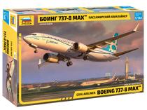 Maquette d'avion civil : Boeing 737 Max 8 - 1/144 - Zvezda 07026