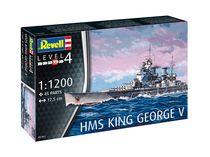 Maquette de navire militaire : Model set HMS King George V - 1:1200 - Revell 65161