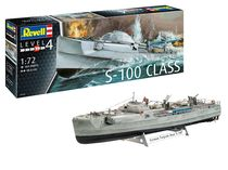 Maquette bateau militaire : Navette Allemande D'Attaque Rapide S-100 - 1/72 - Revell 5162 05162