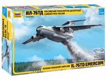 Maquette d'avion militaire : Il-76MD Ministère Urgences - 1/144 - Zvezda 07029