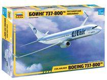 Maquette d'avion civil : Boeing 737-800 - 1/144 - Zvezda 7019 07019