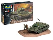 Maquette char : T-34/76 Modell 1940 - 1:76 - Revell 03294, 3294
