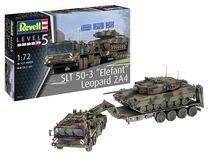"""Maquette char d'assaut : SLT 50-3 """"Elefant"""" + Leopard 2A4 - 1/72 - Revell 03311, 3311"""