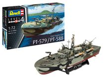 Maquette bateau militaire : Patrouilleur Lance-Torpilles Pt-588/Pt-57 - 1/72 - Revell 5165 05165