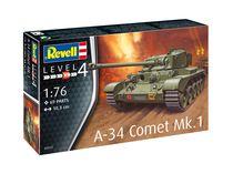 Maquette char d'assaut : A-34 Comet Mk.1 - 1:76 - Revell 03317, 3317 - france-maquette.fr