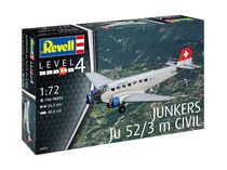 Maquette avion de transport : Junkers Ju52/3m Civil 1:72 - Revell 04975, 4975 - france-maquette.fr
