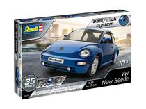 Maquette voiture : Easy Click VW New Beetle 1:24 - Revell 07643, 7643 - france-maquette.fr