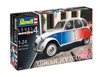 """Maquette voiture : Citroën 2 CV """"Cocorico"""" 1:24 - Revell 07653, 7653 - France-maquette.fr"""
