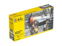 Figurines militaires : US Air Force Personal - 1/72 - Heller 49648 - france-maquette.fr