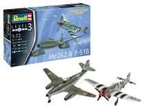 Maquette avion : Model Set Combat Set Me262 & P-5 - 1:72 - Revell 63711