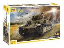 Maquette militaire : Char Lourd Russe T‐28 - 1/72 - Zvezda 5064 05064