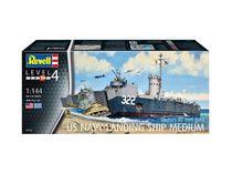Maquette bateau : US Navy Landing Ship Medium - 1:144 - Revell 05169, 5169