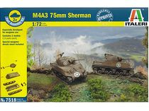 Italeri 07518 : SHERMAN M4 A3 - Special Wargames - Set 2x chars