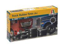 Accessoires maquette de camion : Pneus de Camion (8x) - 1:24 - Italeri 3889