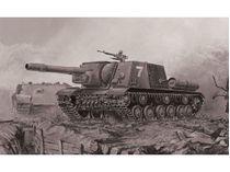 Maquette militaire : Char d'assaut ISU-152- 1/72 - Zvezda 5026