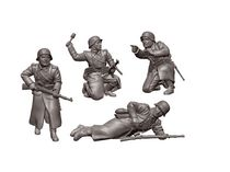 Figurines militaires : Fantassins allemands Tenue Hivernale - 1/72 - Zvezda 6198