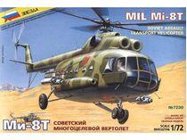 Maquette d'hélicoptère militaire : Mil Mi-8T - 1/72 - Zvezda 7230