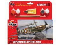 Starter Set maquette d'avion militaire : Hurricane MkI - 1:72 - Airfix 55111