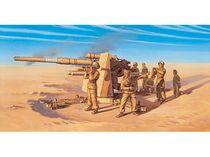 Maquette artillerie : Canon Flak 37 88 mm et servants - 1/72 - Italeri 07512