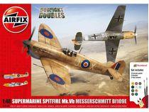 Maquettes d'avions militaires : Supermarine Spitfire MkVb & Messerschmitt BF109E - 1:48 - Airfix 050160