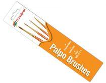 Pinceaux de modélisme : Palpo Brush Pack - Size 000/0/2/4 - Humbrol AG4250 - france-maquette.fr