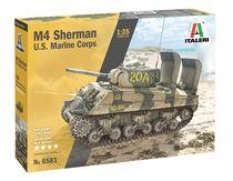 Maquette militaire : M4A2 Sherman U.S. Marine Corps - 1:35 - Italeri 06583 6583 - france-maquette.fr
