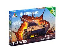 Maquette militaire : World of Tanks - T‐34/85 - 1:72 - Italeri 34102