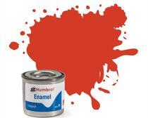 Peinture maquette enamel - Humbrol 174 - Rouge Signal Satiné - Humbrol AA1897