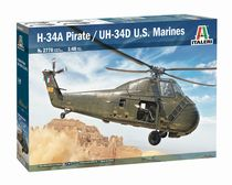 Maquette hélicoptère : H-34A Pirate /UH-34D U.S. Marines - 1/48 - Italeri 2776 02776 - france-maquette.fr