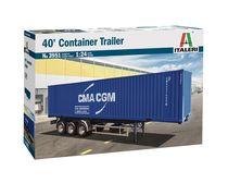 Maquette camion : Remorque container - 1/24 - Italeri 03951 3951 - france-maquette.fr