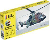 Maquette hélicoptère : Super Puma AS332 M1 - 1/72 - Heller 56367