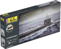 Maquette sous-marin : Starter Kit U-Boot S/M Redoutable - 1:400 - Heller 56995