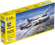 "Maquettes avions : Starter kit Nord2501 + Nord 2502 ""Noratlas"" Twinset - 1/72 - Heller 55374"