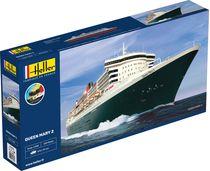 Maquette bateau : Starter Kit Queen Mary 2 - 1:600 - Heller 56626