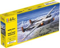 "Maquettes avions : Nord2501 + Nord 2502 ""Noratlas"" Twinset - 1/72 - Heller 85374"